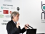 Sir John Hegarty on stage at the BCMA event