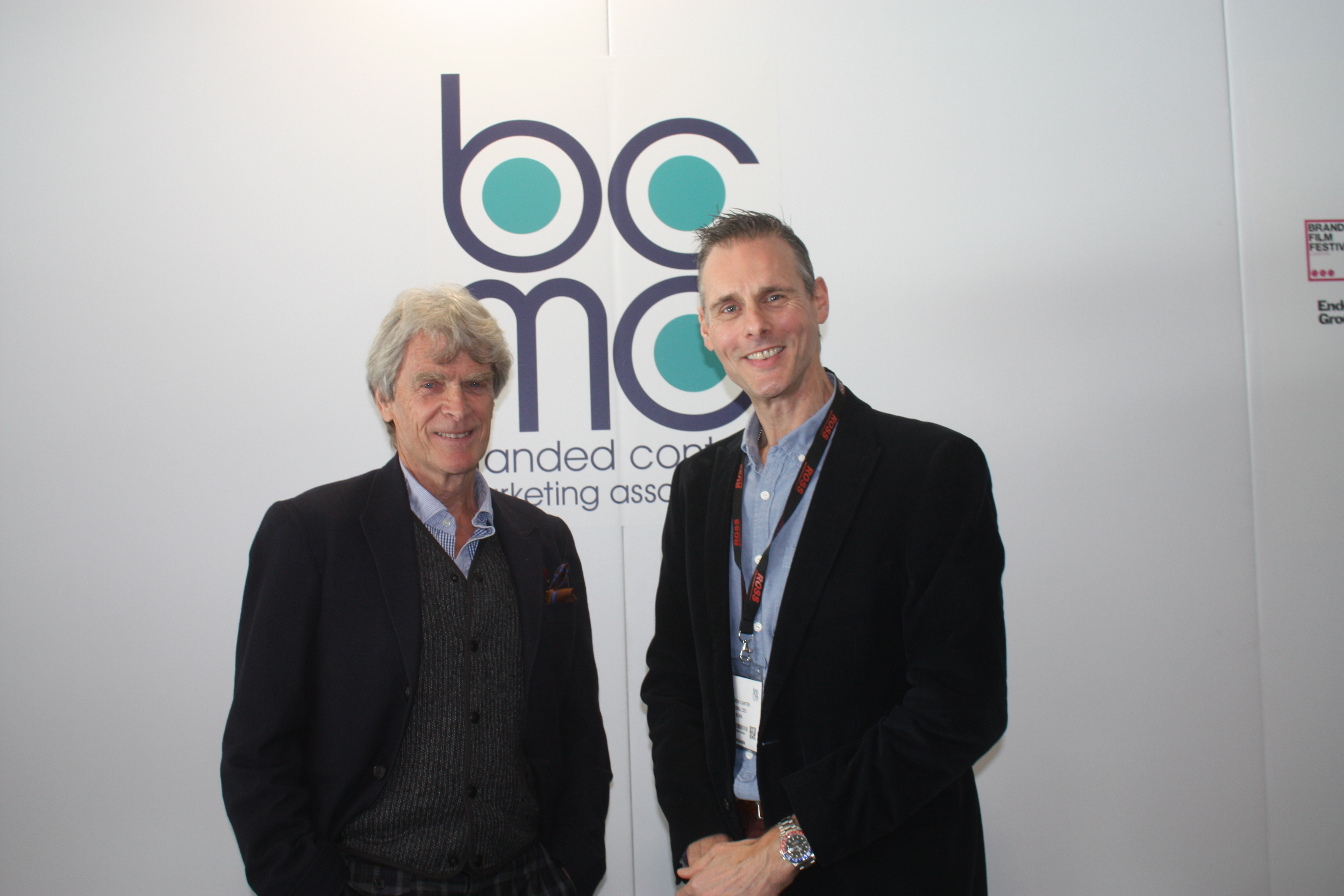 Sir John Hegarty and Andrew Canter, Global CEO, BCMA