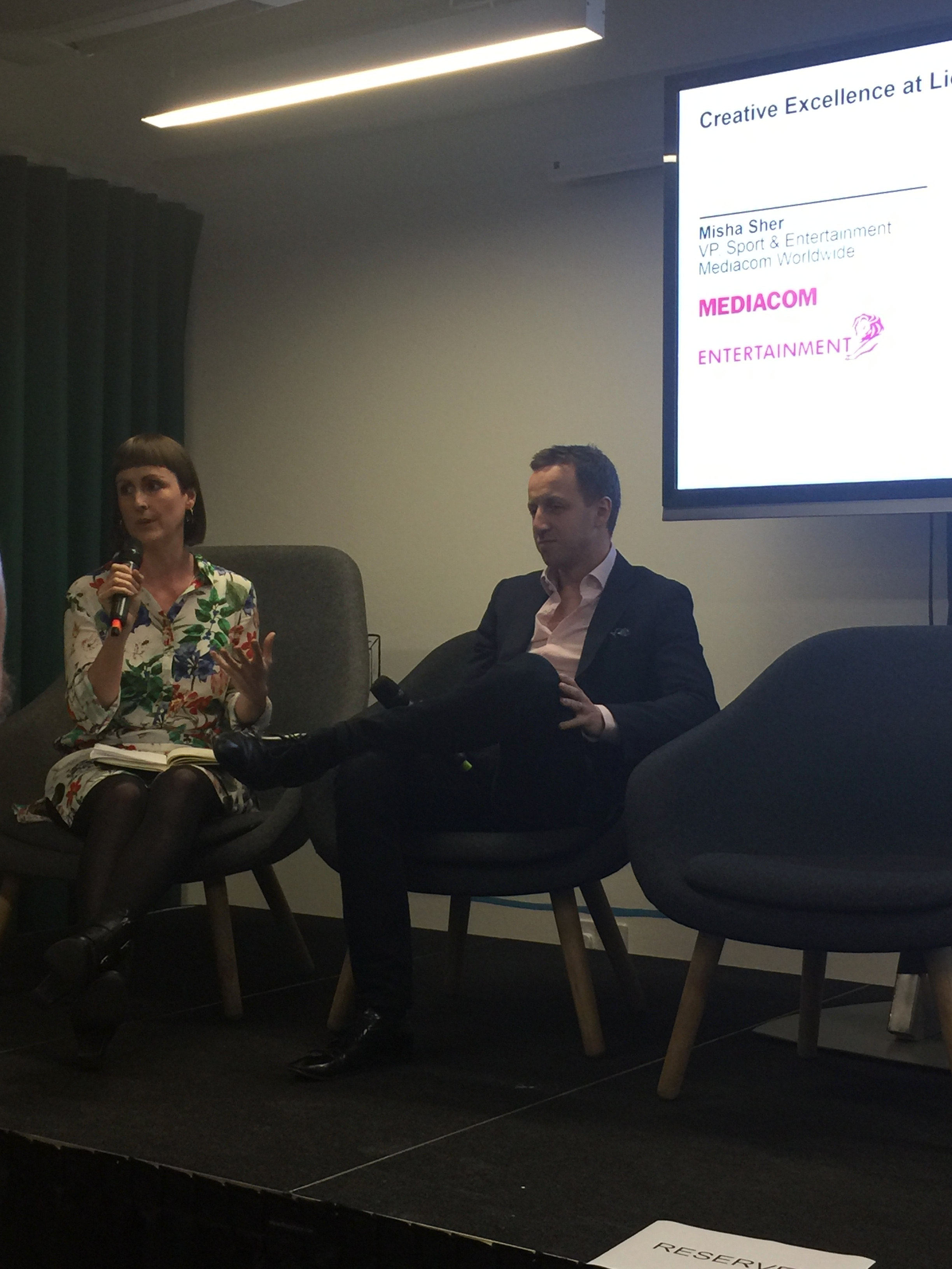 Louise Benson and Misha Sher gave a fascinating insight into awards