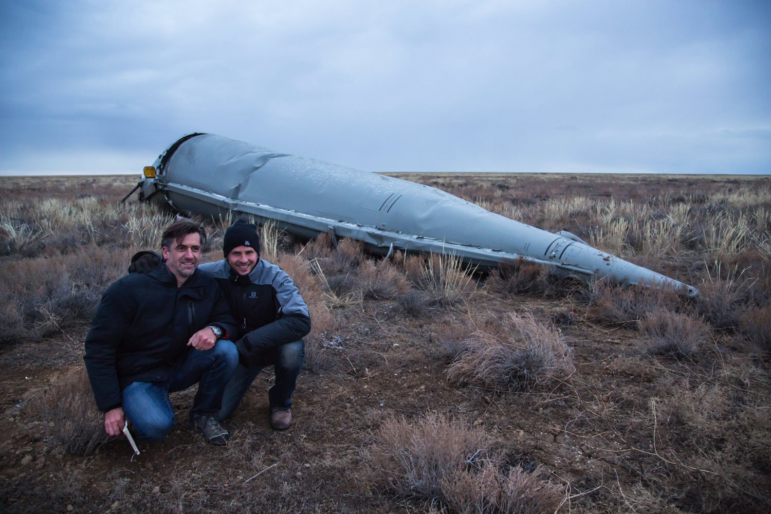 Marco & Patrick after the rocket rescue (Soyuz MS-02)