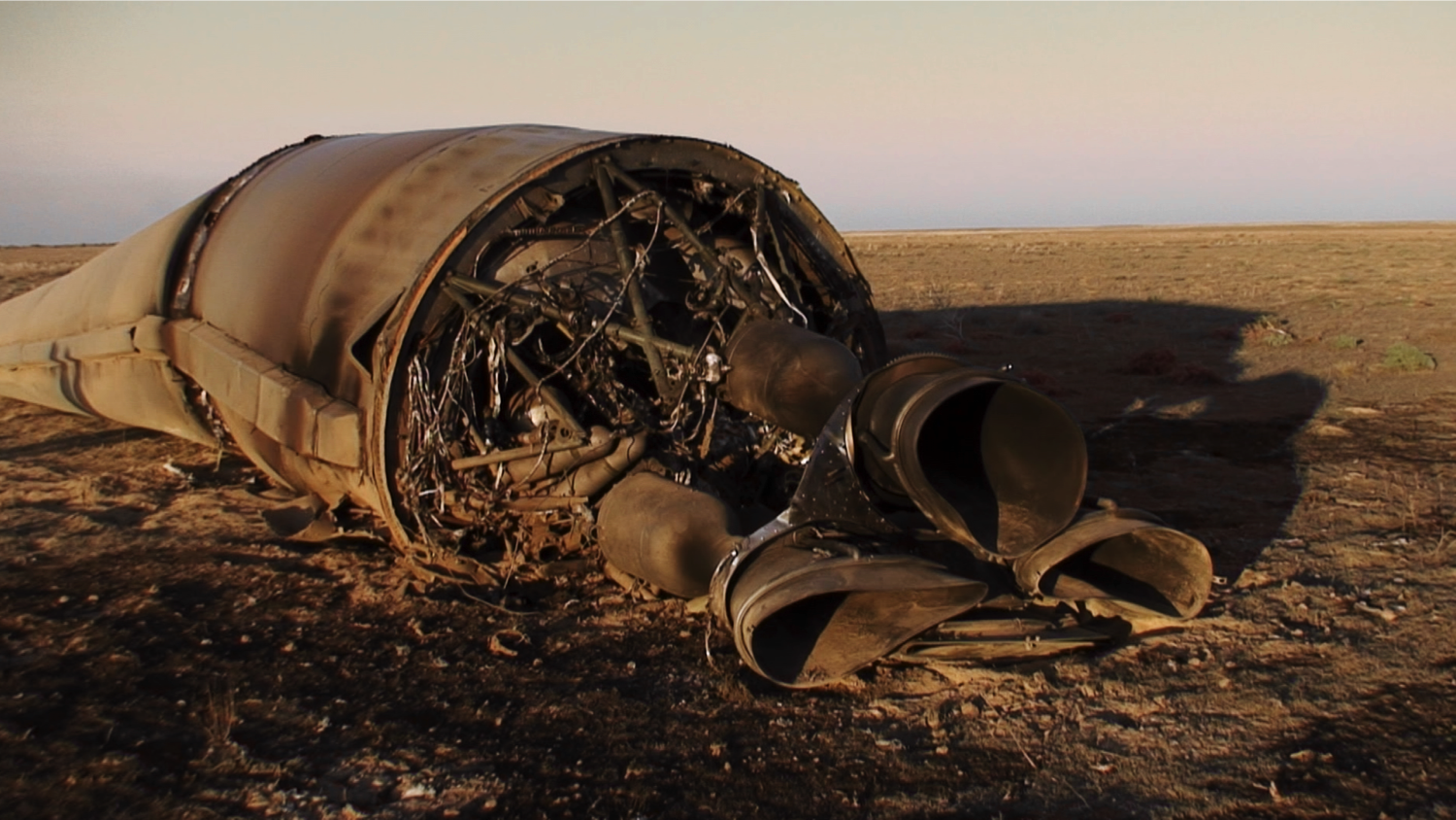 The burned engine has very interesting structures